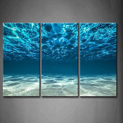 Fresh Print Artwork Blue Ocean Sea Wall Art Decor Poster Artworks For Homes Panel Canvas Prints Picture Seaview Bottom View Beneath Surface Pictures Painting On